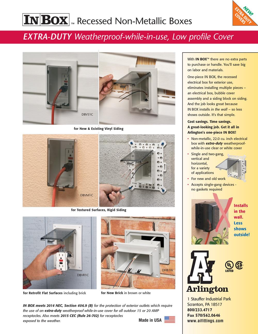 Arlington | Weatherproof-in-Use Boxes