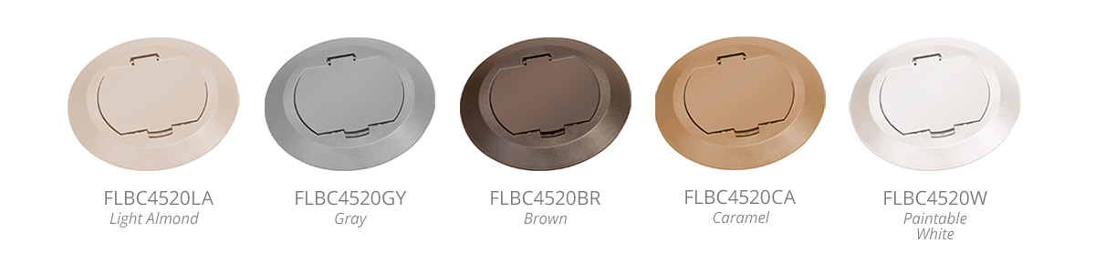 Our Versatile Concrete Box Covers Are Now Available In Plastic With A Flip Lid Style And Come Five Color Choices Choose From Light Almond Gray Brown